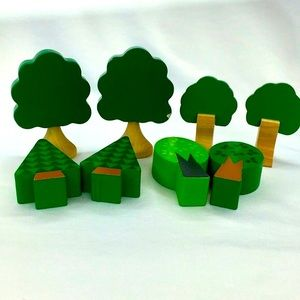 8 Piece Lot Wooden Trees Melissa & Doug